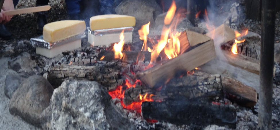Raclette im Wald